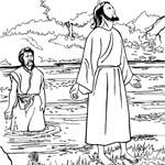 Крещение Иисуса. Раскраски.