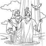 Крещение Иисуса. Раскраски 3.