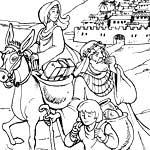 История Авраама. Раскраски.