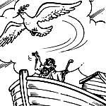 Ной и ковчег. Раскраски.
