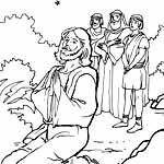 Иисус в гефсиманском саду. Библейские раскраски.