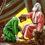 Иаков и Исав - сыновья Исаака (Библейские раскраски)